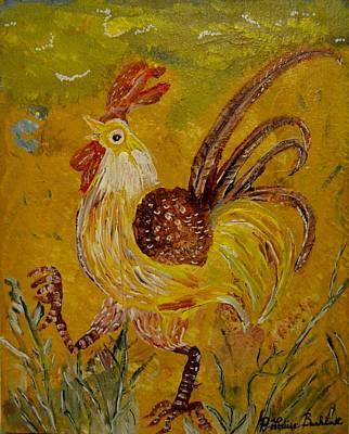 Painting - Crazy Chicken by Louise Burkhardt