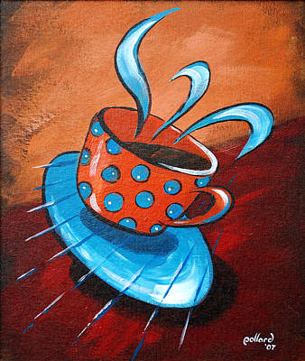 Painting - Crazy Coffee by Glenn Pollard