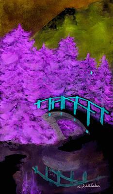 Crazy Exposure Bridge Over Frozen Water Art Print