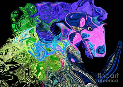 Digital Art - Crazy Horse 1 by Andee Design