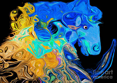 Digital Art - Crazy Horse 3 by Andee Design