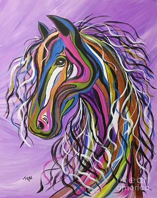 Art Print featuring the painting Crazy Horse by Janice Rae Pariza