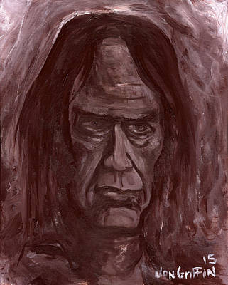 Neil Young Painting - Crazy Horse by Jon Griffin