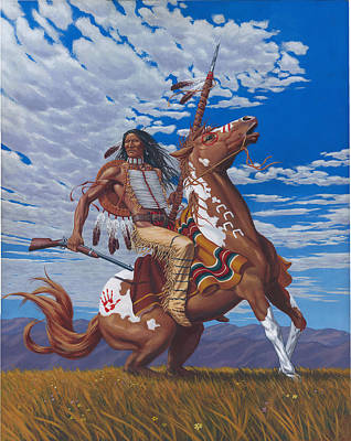 Crazy Horse Drawing - Crazy Horse by Kevin Breyfogle