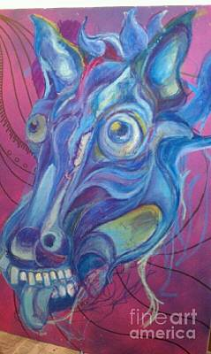 Crazy Horse Drawing - Crazy Horse by Shawn  Allen