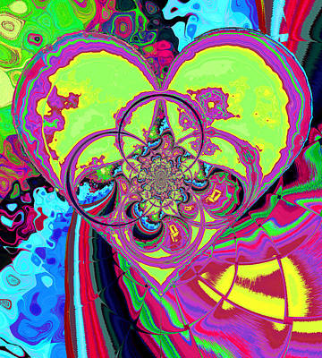 Digital Art - Crazy Love by Wendy J St Christopher