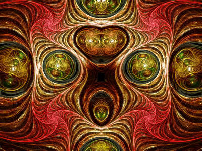 Red Abstract Digital Art - Crazy Modern Art Abstract by Georgiana Romanovna
