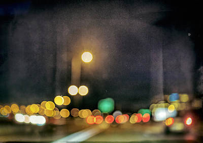 Digital Art - Crazy Night Light Show by Susan Stone