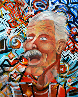 Painting - Crazy Old Man by Khryztof Holtwick