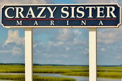 Crazy Sister Marina Art Print by Cynthia Guinn