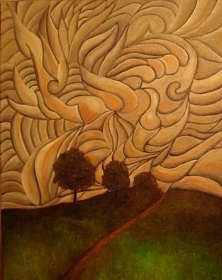 Art Print featuring the painting Crazy Sky by John Stuart Webbstock