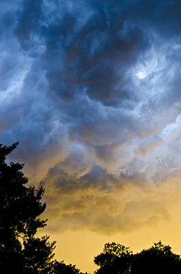 Photograph - Crazy Storm Clouds by Heather Grow
