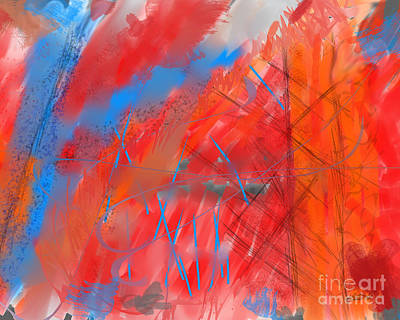 Digital Art - Crazy Vibrance by Kristen Fox