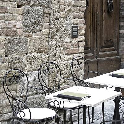 Photograph - Cream Cafe - Tuscany by Lisa Parrish