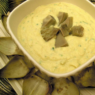 Cookbook Photograph - Cream Of Artichoke Soup by James Temple