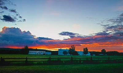 Photograph - Creamer's Diary Sunrise Fairbanks Alaska by Michael Rogers