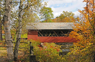 Photograph - Creamery Bridge - Fall by Paul Miller