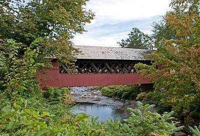 Photograph - Creamery Covered Bridge - Brattleboro Vermont by John Black