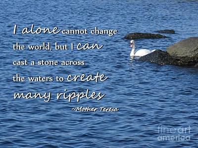 Create Many Ripples Art Print by Tammie Miller