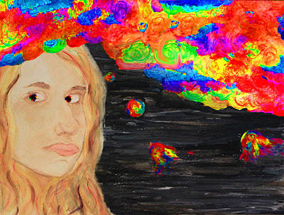 Thoughts Painting - Creative Mind by Alyssa Zuercher