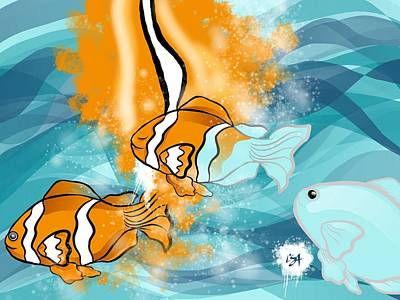 Clown Fish Digital Art - Creation by Lisa Schwaberow