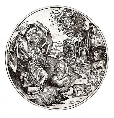Creation Of Adam From Clay, 15th Century Art Print
