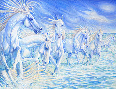 Wildlife Painting - Creation Of Horse by Gill Bustamante