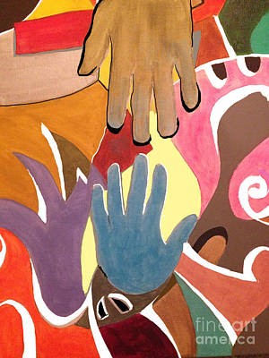 Painting - Creative Hands by Damion Powell