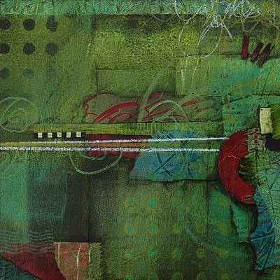 Red Abstract Mixed Media - Creative Imagination  by Laura  Lein-Svencner