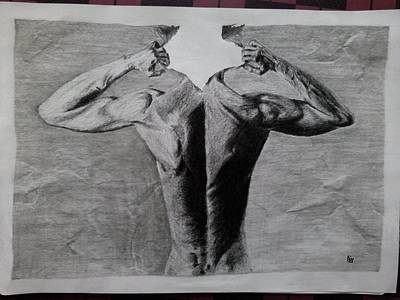 Creative Pencil Art Art Print