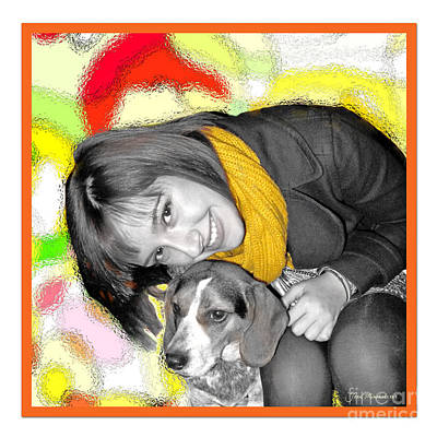 Creative Portrait Sample Art Print by Joan  Minchak
