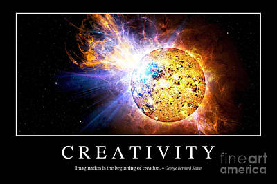 Digital Art - Creativity Inspirational Quote by Stocktrek Images