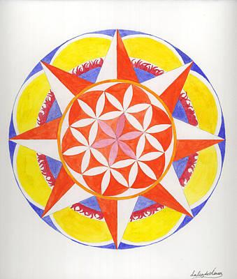 Creativity Mandala Art Print by Silvia Justo Fernandez