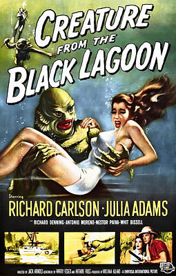 Movies Photograph - Creature From The Black Lagoon Lobby Poster 1954 by Daniel Hagerman