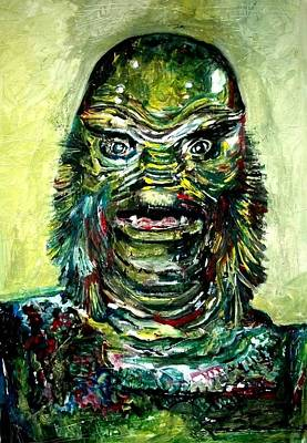 Science Fiction Mixed Media - Creature Of The Black Lagoon Ben Chapman by Marcelo Neira