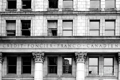 Photograph - Credit Foncier Building Vancouver by John  Mitchell