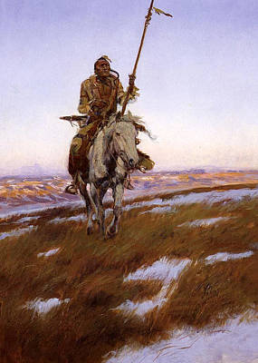 War Pony Digital Art - Cree Indian by Charles Russell
