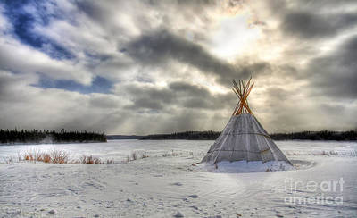 Cree Tepee Art Print