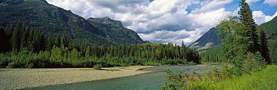 Mcdonalds Photograph - Creek Along Mountains, Mcdonald Creek by Panoramic Images