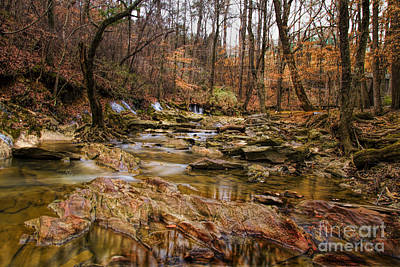 Photograph - Creek At Leflers Mill by Barbara Bowen