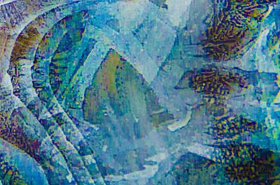 Photograph - Creek Ice Abstract IIi by Christopher Burnett
