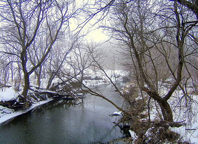 Creekbed Photograph - Creek II by Claude Oesterreicher