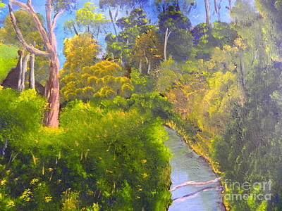 Creek In The Bush Art Print