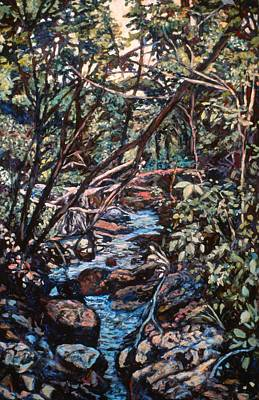 Expressionist Creek Oil Painting - Creek Near Smart View by Kendall Kessler