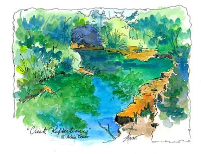 Painting - Creek Reflections  by Adele Bower