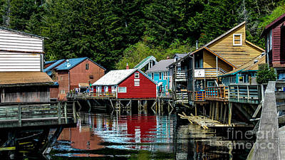 Creek Street - Ketchikan Alaska Art Print
