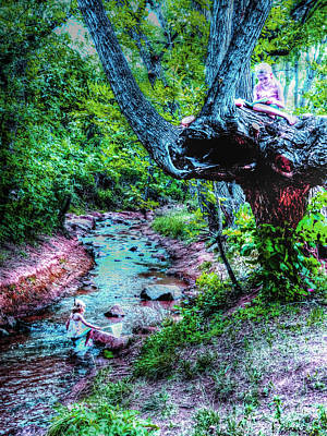 Art Print featuring the photograph Creek Time Enchantment by Lanita Williams