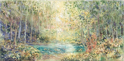 Creek Walk Art Print by Marilyn Young