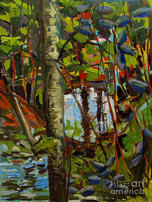 Thoreau Painting - Creek Walking by Charlie Spear