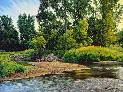 Painting - Creek's Bend by Bruce Morrison